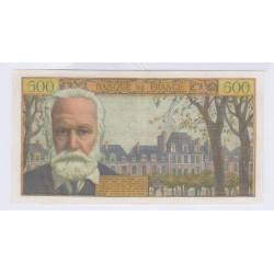 FRANCE 5 NOUVEAUX FRANCS SUR 500 FRANCS VICTOR HUGO 12-02-1959 L'ART DES GENTS