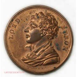 Médaille uniface LORD BYRON par WILLIAM B.F.