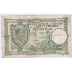 BILLET BELGIQUE 1000 FRANCS 129-09-1942 L'art des gents AVIGNON
