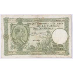BILLET BELGIQUE 1000 FRANCS 22-04-1943 L'art des gents AVIGNON