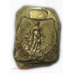 Médaille plaque épreuve Mutualité Française par Jean Fabert