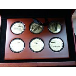 """12 X Médailles """"AMAZIN CHINA MEDAL SET"""" coffret bois"""