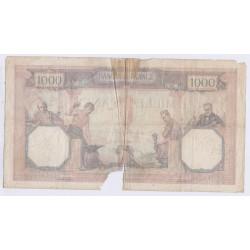 BILLET FRANCE CERES ET MERCURE 1000 FRANCS 22 Aout 1927 L'ART DES GENTS AVIGNON
