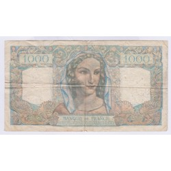 BILLET FRANCE 1000 FRANCS MINERVE ET HERCULE 07-03-1946 L'ART DES GENTS AVIGNON