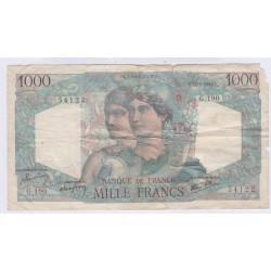BILLET FRANCE 1000 FRANCS MINERVE ET HERCULE 17-01-1946 L'ART DES GENTS AVIGNON