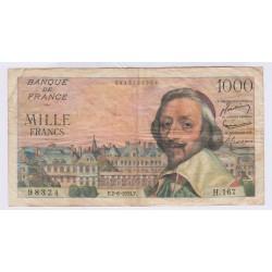 BILLET FRANCE 1000 FRANCS RICHELIEU 02-06-1955  L'ART DES GENTS AVIGNON