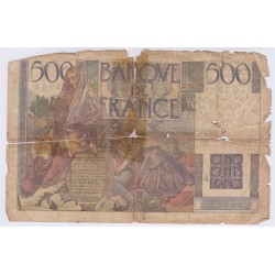 BILLET FRANCE 500 FRANCS CHATEAUBRIAND 17-07-1945 L'ART DES GENTS AVIGNON