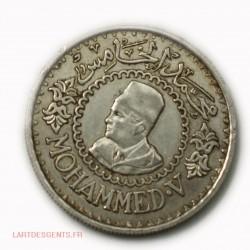 MAROC : 500 Francs ARGENT 1376-1956 MOHAMED V, lartdesgents.fr