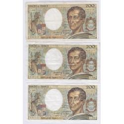 200 Francs MONTESQUIEU 1981 Fayette 70.1