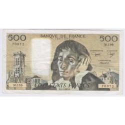 BILLET FRANCE 500 FRANCS PASCAL 1989 SPL L'ART DES GENTS AVIGNON