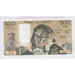 BILLET FRANCE 500 FRANCS PASCAL 05-08-1984L'ART DES GENTS AVIGNON