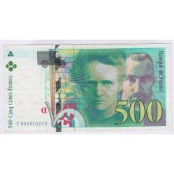 BILLET FRANCE 500 FRANCS PIERRE ET MARIE CURIE 1994  L'ART DES GENTS