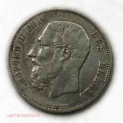 BELGIQUE : 5 Francs 1873 Léopold II