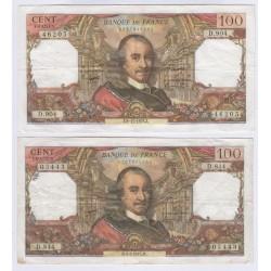 BILLET FRANCE 100 FRANCS CORNEILLE 05-10-1967 SUP L'ART DES GENTS AVIGNON