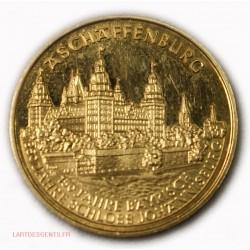 Medaille Aschaffenburg 350 Jahre Schloss Johannisburg Gold St.Martinus