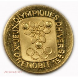 Médaille or Jeux Olympique 1968 Grenoble 900/00 3.02g