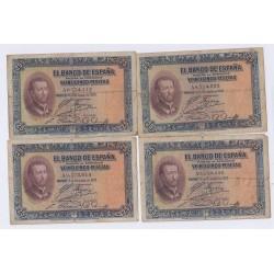 lot 20 BILLETS D'ESPAGNE 25 PESETAS 12 octobre 1926 L'art des gents Avignon
