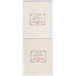 VARIETE DE COULEUR CARNET CROIX ROUGE SANS PUB N° 2006 ANNEE 1954 NEUFS** L'ART DES GENTS