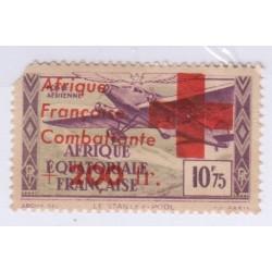 TIMBRE AFRIQUE EQUATORIALE PA N° 29 Avec surcharge L'ART DES GENTS AVIGNON
