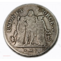 FRANCE 5 Francs  Union et Force AN 8/5 T Nantes