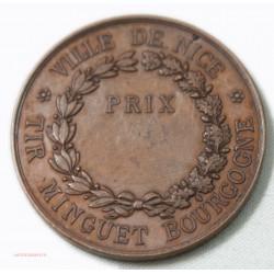 Médaille Ville de NICE - TIR MINGUET BOURGOGNE 1er Prix