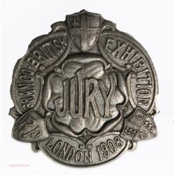 Badge du Jury  de l'Exposition de Londres en 1908 par SPENCER London