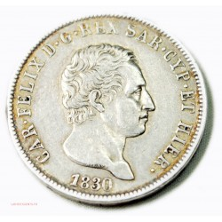 ITALIE - 5 Lire 1830 TORINO (L), lartdesgents.fr
