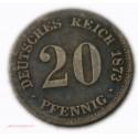 Allemagne 20 Pfennig 1873 F + 1875 F
