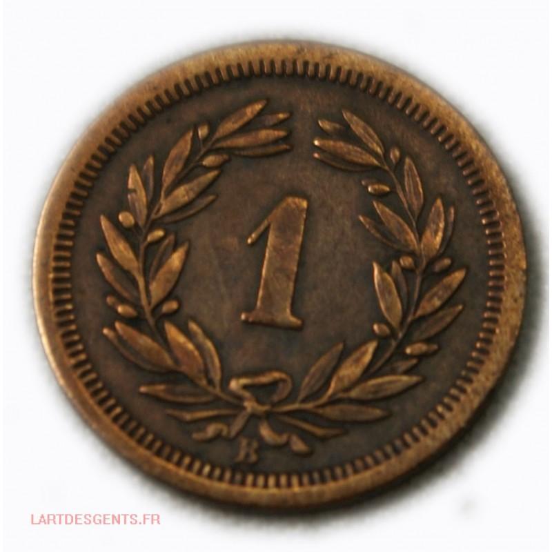 Suisse - 1 rappen (centime) 1876 jolie monnaie