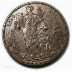 Médaille BELGIQUE LEOPOLD Ier LEOPOLD II 1830-1880 Module 5 Francs