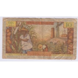 BILLET ANTILLES FRANCAISES 10 FRANCS 1964 K.6 P8a L'ART DES GENTS NUMISMATIQUE