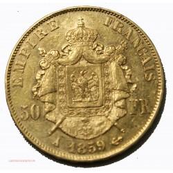 Napoléon III, 50 Francs or 1859 A PARIS, lartdesgents.fr Avignon