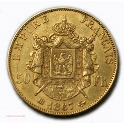 Napoléon III, 50 Francs or 1867 BB STRASBOURG, lartdesgents.fr Avignon