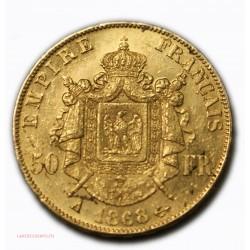 Napoléon III, 50 Francs or 1868 A PARIS, lartdesgents.fr Avignon