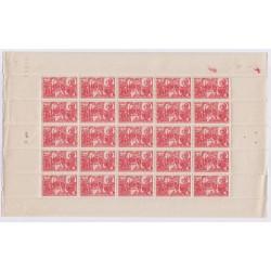 FEUILLE TIMBRES FRANCE  N°608 1944 L'ART DES GENTS PHILATELIE