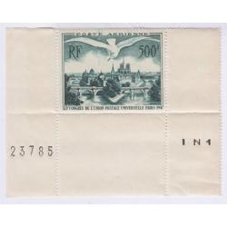 TIMBRE FRANCE PA  N°20 1947 L'ART DES GENTS PHILATELIE