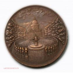 Médaille EUGENE SUE par Emile ROGAT 1845, lartdesgents.fr