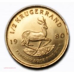 monnaie d'Investissement - 1/2 KRUGERRAND OR 1980 1/2 onze or pur