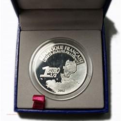 1 EUROS 1/2 BE ARGENT 1 er VOL AU DESSUS DE L ATLANTIQUE LINDBERGH 2002
