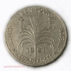 Guadeloupe - Bon pour 1 Franc 1903 - lartdesgents.fr
