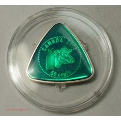 CANADA - 25 CENTS 2008 Belle Epreuve - monnaie triangle, lartdesgents.fr
