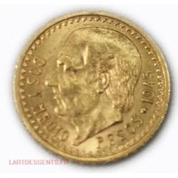 Mexique - 2,5 Pesos or/gold 1945, lartdesgents.fr