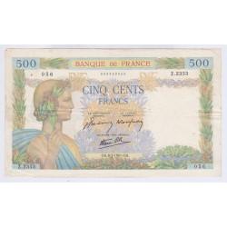 BILLET FRANCE 500 FRANCS LA PAIX 06-02-1941 L'art des gents Numismatique Avignon