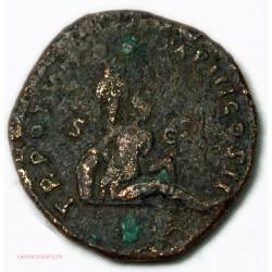 ROMAINE - Sesterce Lucius Verus Parthe Captif 166 Ap JC. RIC.1441 TB