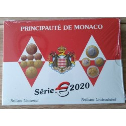 Coffret BU Monaco 2020 neuf sous blister - Tirage 7 000 exemplaires