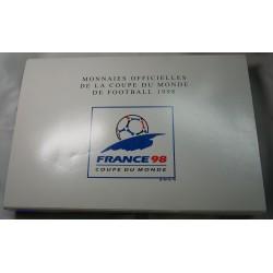 Rare coffret complet 10 Francs argent Coupe du Monde 1998 Foot