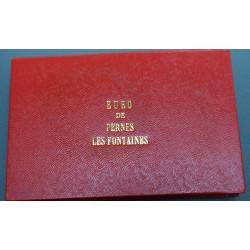 """Coffret 2x 1 Euro (recto-verso) de Pernes les Fontaines """"Cormoran"""" 1996, lartdesgents.fr"""