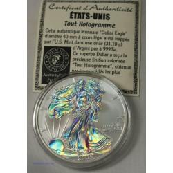 USA- 2005 dollar $ Eagle Hologramme + Certificat Proof