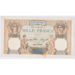 BILLET FRANCE 1000 Francs Cérès et Mercure 11-03-1937 L'art des gents Numismatique Avignon