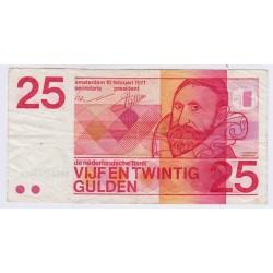 BILLET PAYS BAS 25 Gulden 1971 L'art des gents  Philatélie Avignon